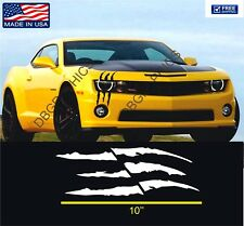 1x Die-Cut Monster Claws Scratch Headlight Decal Vinyl Sticker Halloween Decor