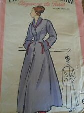"ANCIEN PATRON  MARIE CLAIRE   ROBE DE CHAMBRE  ELEGANTE      "" ANNEE  1950"