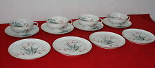 Vintage SCHONWALD Germany Porcelain 12 Piece Dessert Lunch Set Plate Cup Saucer