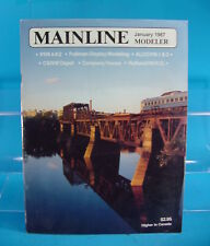 MAINLINE MODELER MAGAZINE JANUARY 1987 PRR 4-8-2,ALCO PB-1 & 2 ,C&NW DEPOT, MP