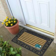 Classic Thick Coir and Rubber Large Doormat 45x75cm