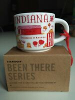 NEW Starbucks Been There Series Ornament~Indiana Mug~ In Box~2 Ounce~Free Ship!