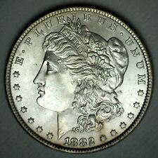 1882 Morgan Silver Dollar Coin Uncirculated Coin Philadelphia Minted $1 US