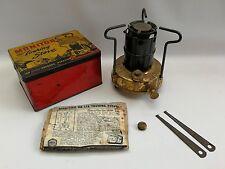 Vtg Monitor Brass Touring Portable Picnic Camping Stove Burner Original Tin Box
