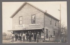 1911 Real Photo Postcard Hancock, New York Post Office, Moxie Sign, Undertaker