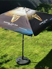 More details for large guinness garden parasol with base bnib
