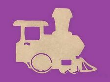 Sujet ou support a decorer en bois medium mdf train locomotive