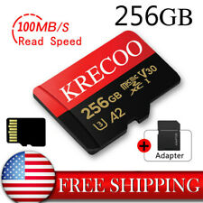 NEW Memory Card 100MBS Ultra-thin 256GB Class 10 & Adapter for Phone/Tablet/PC
