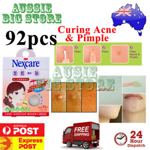 92 Pcs Nexcare 3M Acne Dressing Pimple Sticker Inflamed Zit Heal Patch Thin