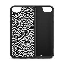Zebra Skin Print Wild Animals Black Rubber Phone Case