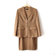 escada camel hair wool silk tailored skirt suit set 40/42 US 12/10 work career