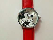 Adult /Teen MICKEY MOUSE Watch with RED Strap