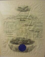 1917 President Woodrow Wilson Signed Naval Proclamation - Scarce Autograph -NICE