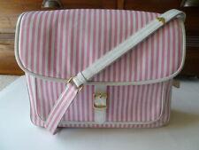 Giorgio Armani - Valextra vintage pink stripe handbage leather large