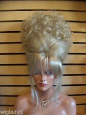 WOW VEGAS GIRL WIGS UP DO FRENCH TWIST CURLY TOPPER