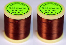 Danville's Flat waxed Nylon 2 pack, Tobacco Brown