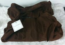 "Set of 2 FIELDCREST Classic Bolster Brown Stripe Pillow Covers w/zipper 8""x18"""