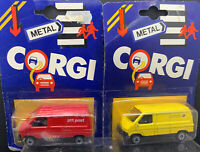 2 X Corgi 53250 RARE Renault European Post Vans. BNIB (LOCsm2)