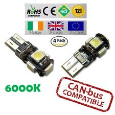 4x CanBus LED No Error 6000k HID White T10 w5w 501 194 Parking Bulbs Side Lights