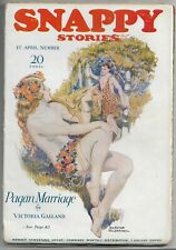 ~SNAPPY STORIES - VINTAGE GGA ROMANCE PULP MAGAZINE~Apr.1924 Vina Delmar+ HTF!