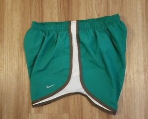 Wimens Ladies Nike Dri Fit Shorts Lined Green White Tempo Large L