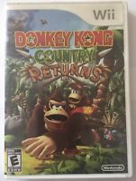 Donkey Kong Country Returns (Nintendo Wii, 2010, COMPLETE)