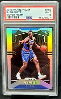 2019 Prizm SILVER REFRACTOR Knicks RJ BARRETT Rookie Basketball Card PSA 9 MINT