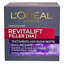 L'oréal Paris Revitalift Filler Crema Viso Antirughe Rivolumizzante notte con AC