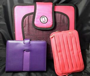 Lot 1)Pink Case It Binder 1) Pink Belkin 1) Purple M-Edge School Work Collage