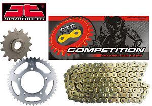 GAS GAS 300 EC / MC / E 2001-2012 Gold Heavy Duty GTR Chain and Sprocket Kit Set