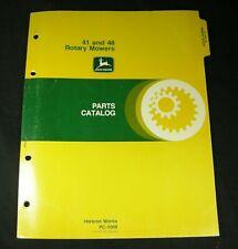 JD John Deere 41 & 48 Rotary Lawn Mower Tractor Parts Manual Book Catalog OEM