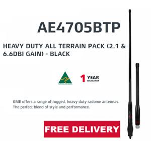 GME HEAVY DUTY ALL TERRAIN UHF CB Antenna TWIN PACK (2.1 & 6.6DBI GAIN) - BLACK