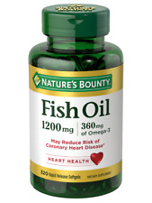 NATURE'S BOUNTY Fish Oil 1200 mg 360 mg 320 Softgel Heart Health EXP 05/2020+