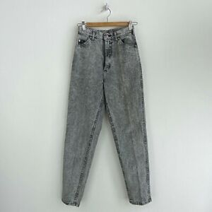 Women's Lee Tapered Leg Light Wash Gray Vintage Jeans Size 26 x 31