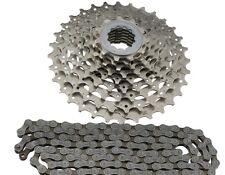 Bicicleta Juego de desgaste 9 compartimentos Shimano cn-hg53 Cadena + cs-hg400