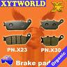 Front Rear Brake Pads Honda VTX1300 VTX 1300 S