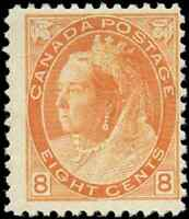 Canada #82 mint F OG H 1898 Queen Victoria 8c orange Numeral CV$200.00