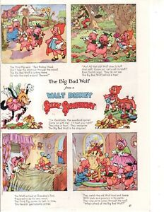 1934 Disney - Silly Symphony Big Bad Wolf, 3 Little Pigs  from Good Housekeeping