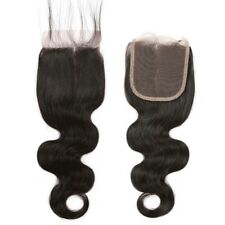 "Closure 8A Virgin Brazilian Remy Human Hair 4x4"" middle part"