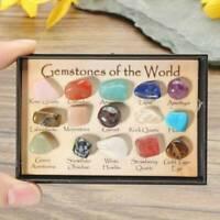 15 Pcs Natural Chakra Tumbled Stone Mineral Crystal For Healing Feng Shui Decor.