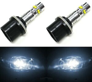 LED 50W 885 H27 White 5000K Two Bulbs Fog Light Replacement Upgrade Lamp OE