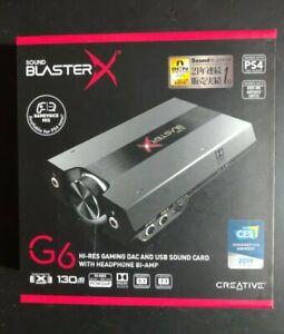 Creative Labs Sound Blaster X G6 HD Gaming DAC and External USB Sound Card