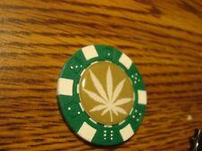 MARIJUANA Leaf Epoxy Dice design Poker Chip,Golf Ball Marker,Card Guard Olive