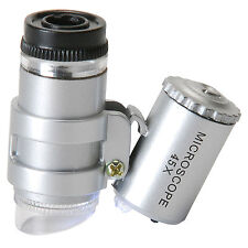 Sure DC-TE11125 Pocket Microscope 45x Magnification with Dual LED Lamp