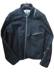 G-Star Raw Aero Leather Biker Jacket. Size 2XL. Black. Near New Condition.