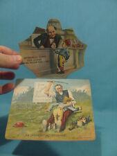 1886 BASEBALL Players - Old Judge Cigarettes - Mechanical Trade Card - UNUSUAL!