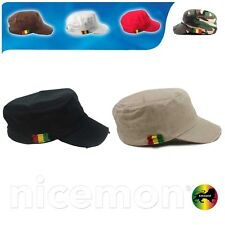 Rastacap Dubwise Army Rasta Cap Cadet Military Style Hat Army Cap Castro 1sz Fit