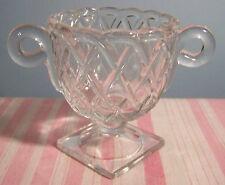 Clear Pressed Glass Sugar Bowl