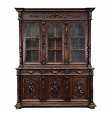 1111041 : Large Antique French Renaissance Hunt Style 6 Door Bookcase