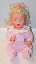 "BABY ALIVE 16"" DOLL Blonde Kenner 1990 VINTAGE Original Does Not Work Sucks Thum"